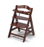 Alpha Hauck dětská židlička dřevěná buková Walnut
