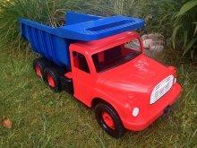 Auto Tatra 148 plast 73cm červená kabina modrá ...