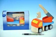Dřevěné Auto hračka jeřáb vozidlo barevná