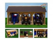 DŘEVĚNÉ STÁNÍ pro tři Traktory - garáž pro země...