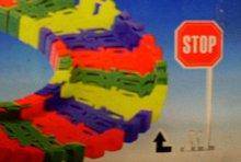 Autodráha barevná stavebnice s a...