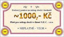 Dárková poukázka na hodnotu 1000 Kč