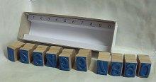 Dřevěná razítka Čísla od 0 po 9 - 25 mm na výšk...