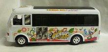 Autobus Music Bus 3D svítící narážecí zvukový p...