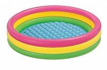 Bazén tříbarevný velký nafukovací 114 x 25 cm