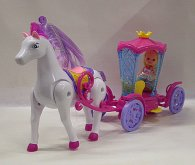 Kočár s chodícím koněm pro panen...