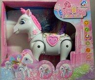 Kůň chodící koník pro Barbie s křídly zvukový s...