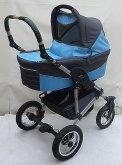 Kočárek kombinace 4 Cross Lux modro šedý