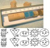 Dřevěná školní razítka na známkování 10 kusů v ...