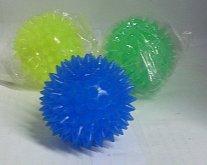 Antistresový míček gumový svítící s gumovými os...
