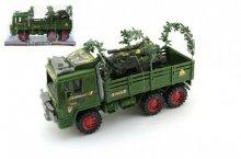 Armádní vojenské nákladní auto s Dělem Maxi i p...