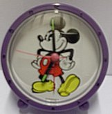 Budík kulatý fialový Mickey mause Disney