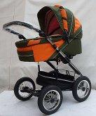 Alu sprint kočárek design Mutsy oranžově zelený
