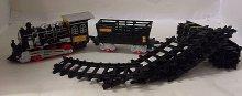 Vláček Train set vláčkodráha s kolejemi svítící...