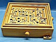 Bludiště dřevěné velké s kuličkou hlavolam hra