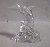 Delfín figurka skleněná křišťálo...