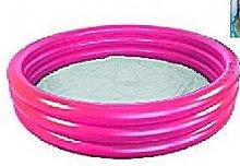 Bazén jednobarevný komorový kulatý růžový