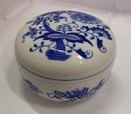 Doza Kulatá porcelánová cibulák cibulový dekor
