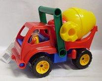 Auto míchačka velká s panáčkem plastová