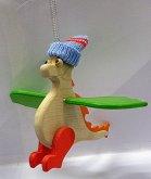 Dráček Mráček dřevěný s čepicí na pružině velký...