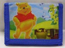 Peněženka dětská skládací Modrá Medvídek Pú