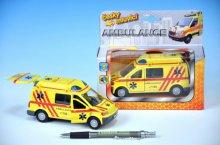 Auto ambulance kov 13cm česky mluvící na zpětné...