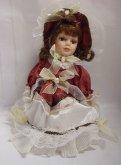 Porcelánová panenka 26 cm Panna v sukni a klobo...