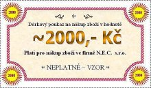 Dárková poukázka na hodnotu 2000 Kč
