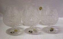 Brandy koňakovky odlivky sklenice O354 křišťálo...