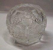 Váza koule malá skleněná křišťál...