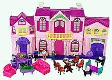 Dům pro panenky svítící se zvukem velký s přísl...