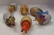 Dinosauří vajíčka plastová 7 cm 6 kusů v sáčku
