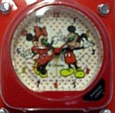 Budík Disney Mickey mause dětský a Minnie červený