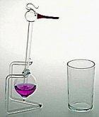 Čáp skleněný pijící vodu kývající Maxi retro de...