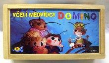 Domino Včelí medvídci dřevo 28 kusů s dřevěnou ...