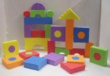 Pěnové kostky velké stavebnice 32 kusů