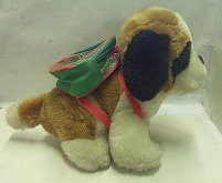 Bernardýn pes s batohem plyšový zvukový 17 cm