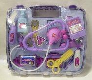Doktorský kufr Lux plastový fialovo růžový