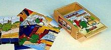 Dráček Soptík kostky dřevěné 12 kusů v krabičce