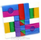 Kostky stavebnice barevné