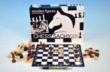 Dáma , Šachy a Mlýn dřevěné společenská hra soubor
