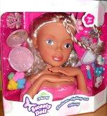Česací hlava Maxi velká Sweety Doll s doplňky