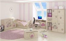 Dětská postel Kočka růžová - bar...