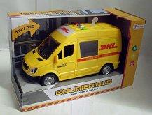 Auto přeprava zásilek DHL zvuková se světlem žl...