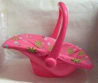 Autosedačka pro panenku Pink s p...