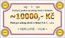 Dárková poukázka na hodnotu 10000 Kč