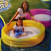 Bazén jednobarevný tří komorový kulatý žlutý Ak...