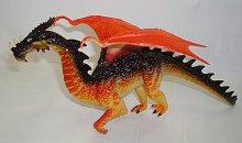 Drak s křídly plastová figurka oranžovo černý j...