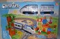 Vlak stavebnice vláčkodráhy Express set s kolejemi svítící zvukový 56 dílný