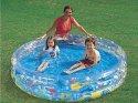 Bazén Metalic Akce 3 komory 506L průhledný 183x33 cm nafukovací